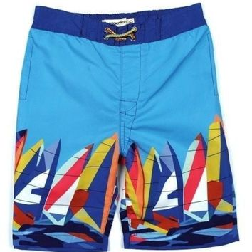 Outlet Appaman Blue Swim Trunks