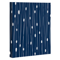 Heather Dutton Navy Entangled Art Canvas