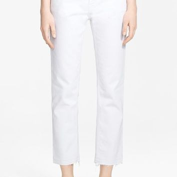 Women's Current/Elliott 'The Cropped Straight' Straight Leg Crop Jeans ,