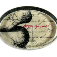 'Let Your Life Speak' Glass Paperweight