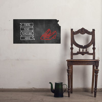 Kansas Chalkboard State wall decal