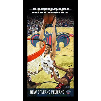 Anthony Davis New Orleans Pelicans Player Profile Wall Art 9.5x19 Framed Photo
