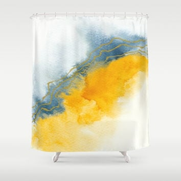 Improvisation 64 Shower Curtain by vivigonzalezart