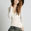 Free People Womens Seamless Cut Out Top