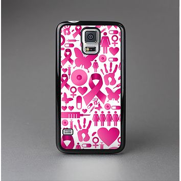 The Pink Collage Breast Cancer Awareness Skin-Sert Case for the Samsung Galaxy S5