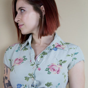 Floral Escape Vintage Crop Top