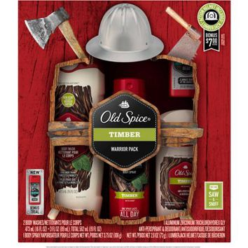 Old Spice Fresher Collection Timber Warrior Pack Holiday Bath Gift Set, 5 pc - Walmart.com