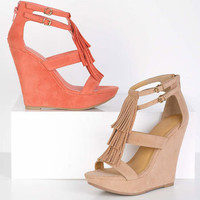 Charlize Fringe Wedge
