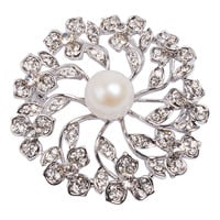 Fashion Unique Jewellery Cheap Fashion Jewelry Pearl Brooch Round Brooches