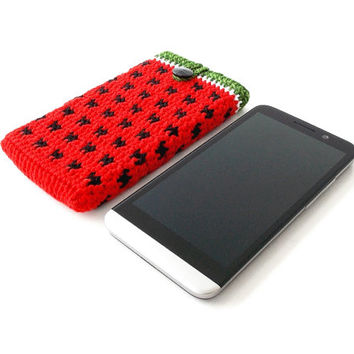 WATERMELON button iPhone 6 phone case, Galaxy S5 case, Red HTC One m8 case, Nexus 5 pouch, Xperia Z2 cover, BlackBerry Z10, cell phone cozy