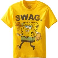 Nickelodeon Big Boys' SpongeBob Swag Tee, Sunflower, Medium