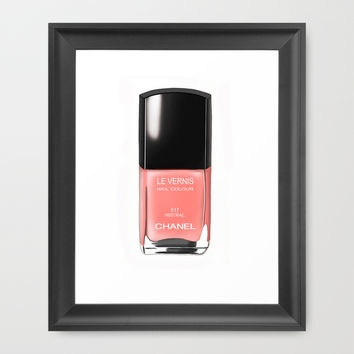 Chanel Nail Polish Mistral Framed Art Print by BeckiBoos