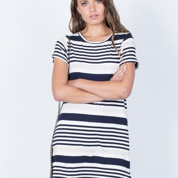Flow of Stripes Dress