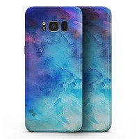 Blue 34222 Absorbed Watercolor Texture - Samsung Galaxy S8 Full-Body Skin Kit