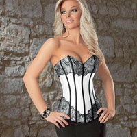 Strapless Lace Corset Top