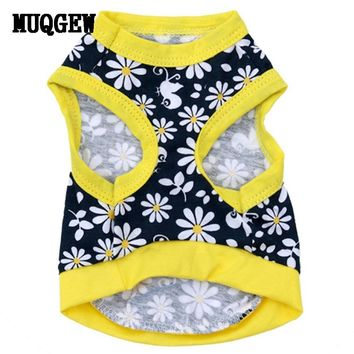 Dog Flowery Shirt Vest
