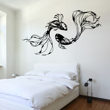 Wall Decal Fishes Underwater Marine Ocean Sea Beautiful (z3205) Size 22''x 35''