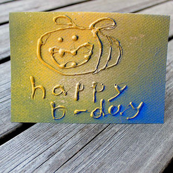 Greeting card A6 - Happy beerthday happy bee
