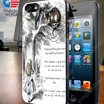 Cheshire Cat Quote  Case for iPhone 4/4S, 5/5S, and Samsung Galaxy S3/S4