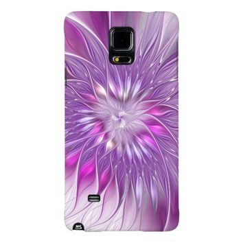 Pink Flower Passion Abstract Fractal Art Galaxy Note 4 Case