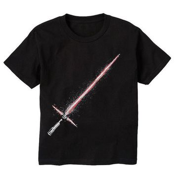 ESB7GX Star Wars: Episode VII The Force Awakens Light Saber Tee - Boys 8-20 Size