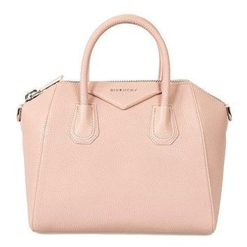 Givenchy Women's Antigona Sugar Goatskin Leather Satchel Bag Blush Pink