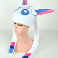 Pokemon Sylveon with ribbons beanie Video Gamer hat Pokemonxy  Eeveelution