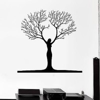 Wall Sticker Abstract Woman Tree Nature Art Decor Mural Vinyl Decal Unique Gift (ig1930)