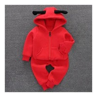 Infant Thick Clothes Baby Boy Girl Cartoon Ladybird Suit 0-1-3 years old  73cm