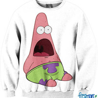 Surprised Pat Meme Crewneck | fresh-tops.com