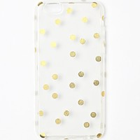 With Love From CA Clear Gold Dot iPhone 6/6s Case - Womens Scarves - Gold Clear - NOSZ