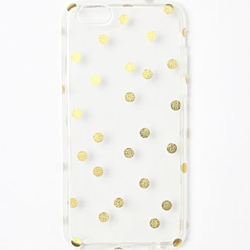 With Love From CA Clear Gold Dot iPhone 6 Case - Womens Scarves - Gold Clear - NOSZ