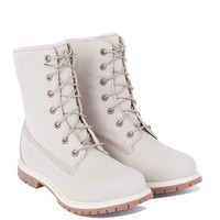 Timberland Fold Down Boots in White Nubuck