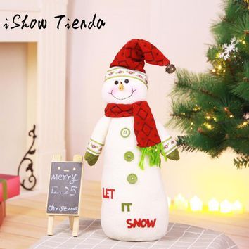 Christmas Decorations for Home 45*10cm Merry Christmas Snowman Ornaments Dolls Natale Ingrosso Christmas Gift Festive Supplies