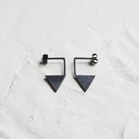 "Sterling silver pendant earrings nro12 ""les géométriques"" triangle"