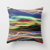 speed Throw Pillow by Marianna Tankelevich   Society6
