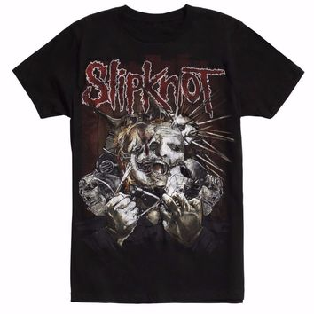 Slipknot RIPPED MASKS T-Shirt NEW Authentic & Licensed Front & Back Design