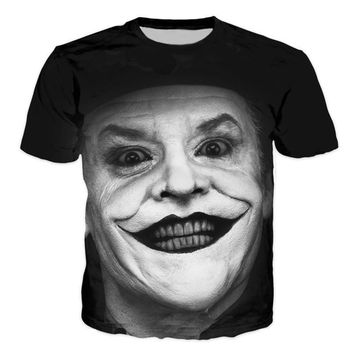 Brand Clothing Suicide Squad Joker Harley Quinn T shirt 3D Print Animal Lion Cat Funny Hot Funny T-shirt Homme Mens T-shirt