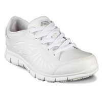 Skechers Relaxed Fit Eldred Dewey Women's Work Shoes (White)