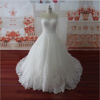 Sleeveless Lace Wedding Bridal Dress with Buttons Custom Size 2 4 6 8 10 12 14
