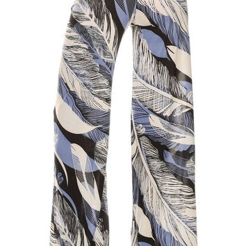 Chic Feather Palazzo Pants