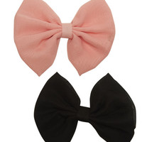 2 On Chiffon Bow Clips - WetSeal