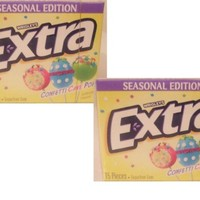 CONFETTI CAKE POP EXTRA SUGARFREE GUM BY WRIGLEY'S, 1 PACK OF 15 PIECES