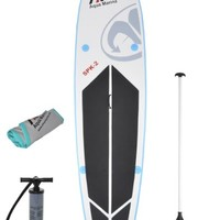 "Inflatable 10' 10"" SUP Stand Up Paddle Board w/ 3PC Paddle"