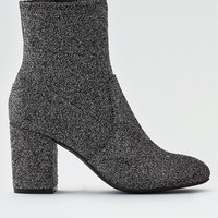 AEO Heeled Sock Bootie, Silver