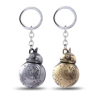H&F new design Hot Movie Star Wars Cute Robot BB-8 BB8 Cosplay Keychains For Fans key holder for Chaveiro Llavevos