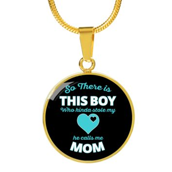This Boy Stole My Heart - 18k Gold Finished Luxury Necklace