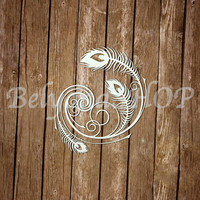 "laser Cut Chipboard ""Peacocks pride"" [2]"