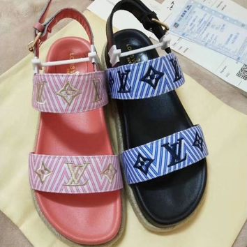 """LV"" latest summer sandals"