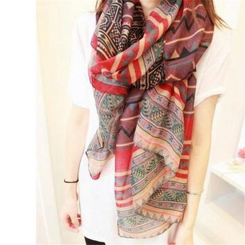 Trendy  warm Printed Long Scarf